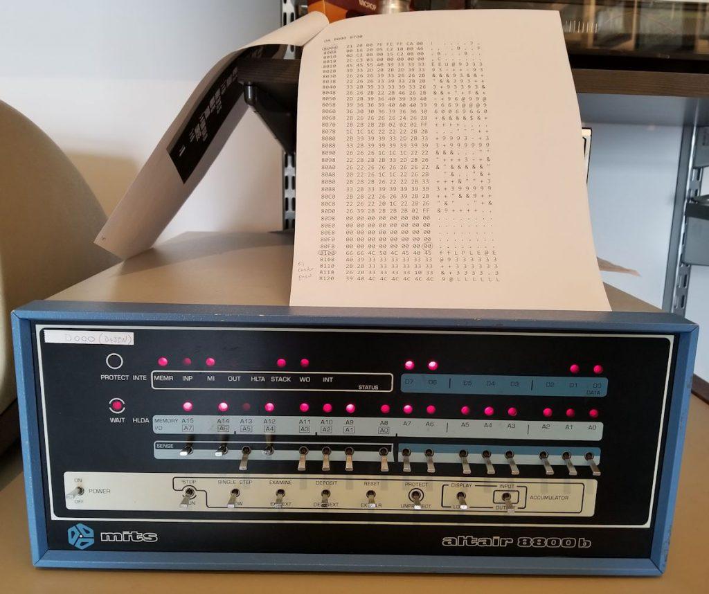 MITS 8800b with Jukebox code