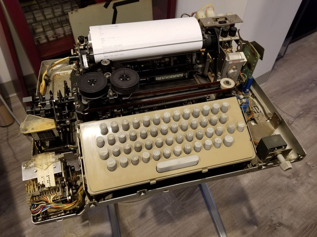 Teletype ASR 33 With Cover Removed